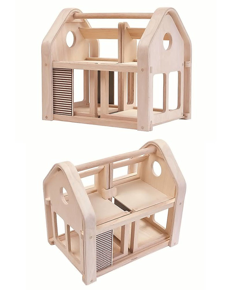 plantoys wooden slide n go dollhouse portable with furniture dolls houses zoom