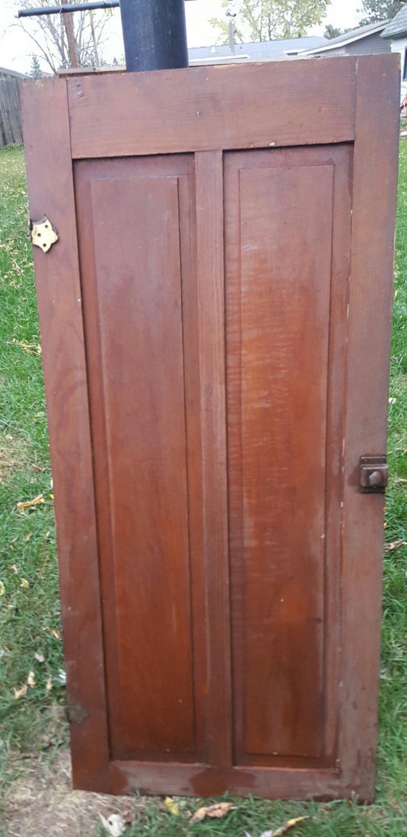 """Premade Cabinet Doors Awesome Old Wood Cabinet Door Antique Cupboard Door Architectural Salvage Recessed Two Panel solid Wood Hardware Hinges 18"""" X 44 5 8"""" D9"""