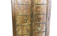 Rustic Storage Cabinet With Doors Best Of Antique Castle Doors Armoire Old Wood Iron Nails Rustic Furniture Storage Wine Cabinet Vintage Country Cottage Farmhouse Design Handmade