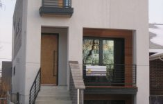 Sample Of Simple House Design Inspirational Small Modern House Design With White Wa Using