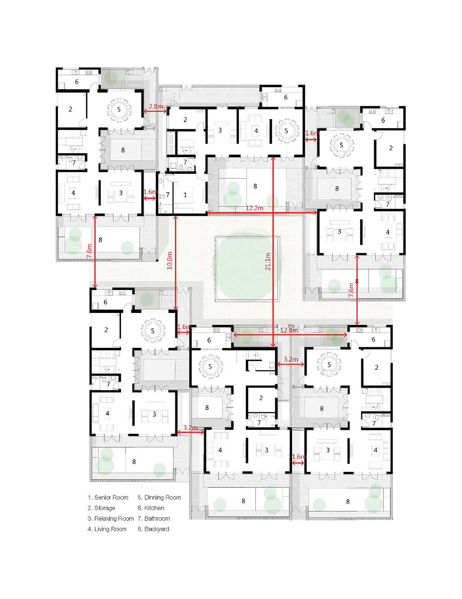 586b2085e58ecee contemporary rural cluster dongziguan affordable housing for relocalized farmers in fuyang hangzhou gad ground floor plan