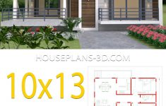 Simple And Beautiful House Designs Unique House Design 10x13 With 3 Bedrooms Terrace Roof In 2020