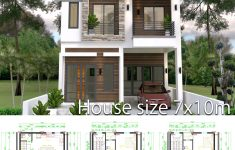 Simple Building Design Pictures Elegant Home Design Plan 7x10m With 6 Bedrooms