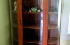 Small Curio Cabinet With Glass Doors Luxury Antique Oak Curio Cabinet Flat Glass Door Half Round Sides