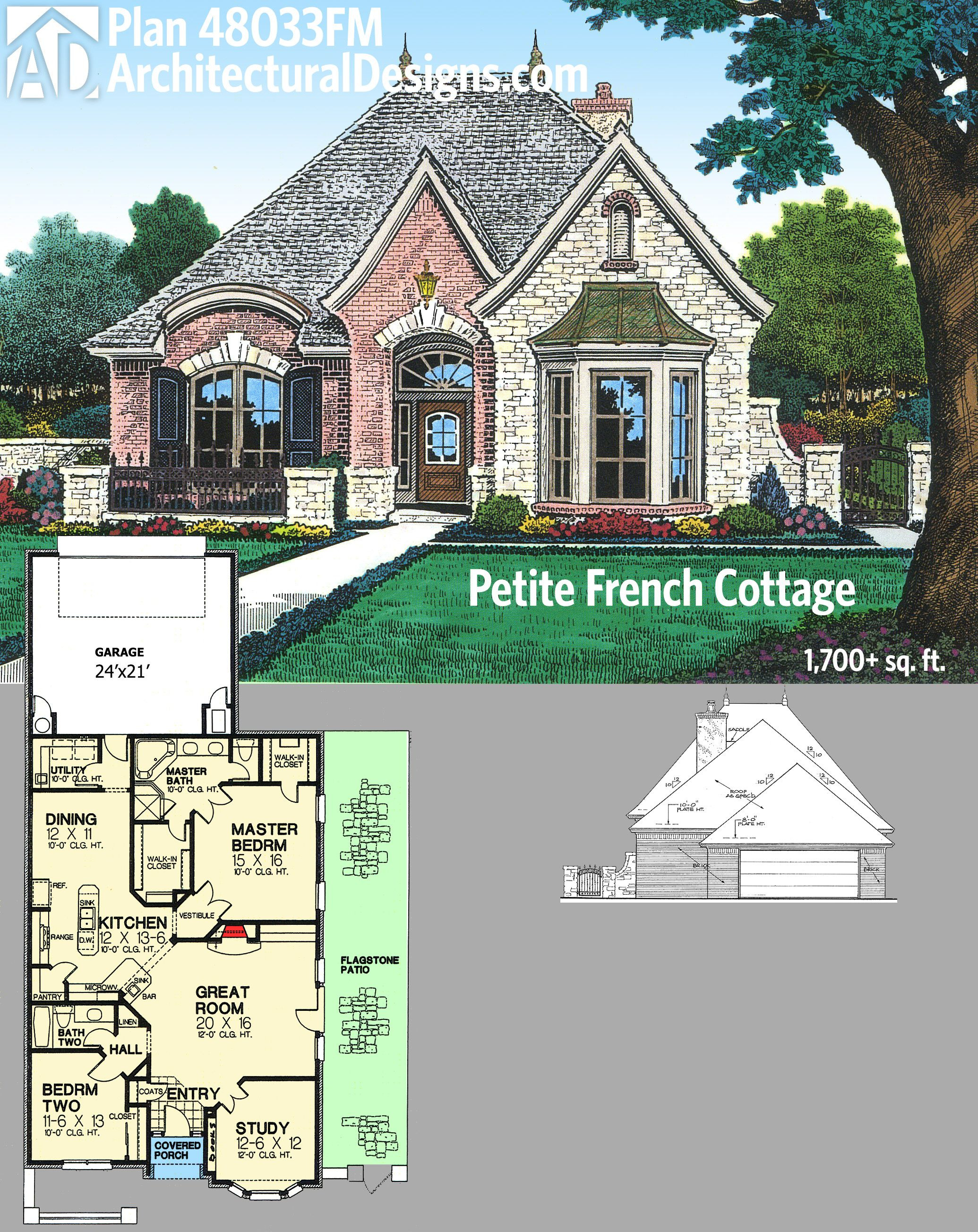 Small French Cottage House Plans Awesome Plan Fm Petite French Cottage In 2020