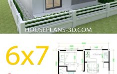 Small House Plan Design Luxury House Design 6x7 With 2 Bedrooms In 2020