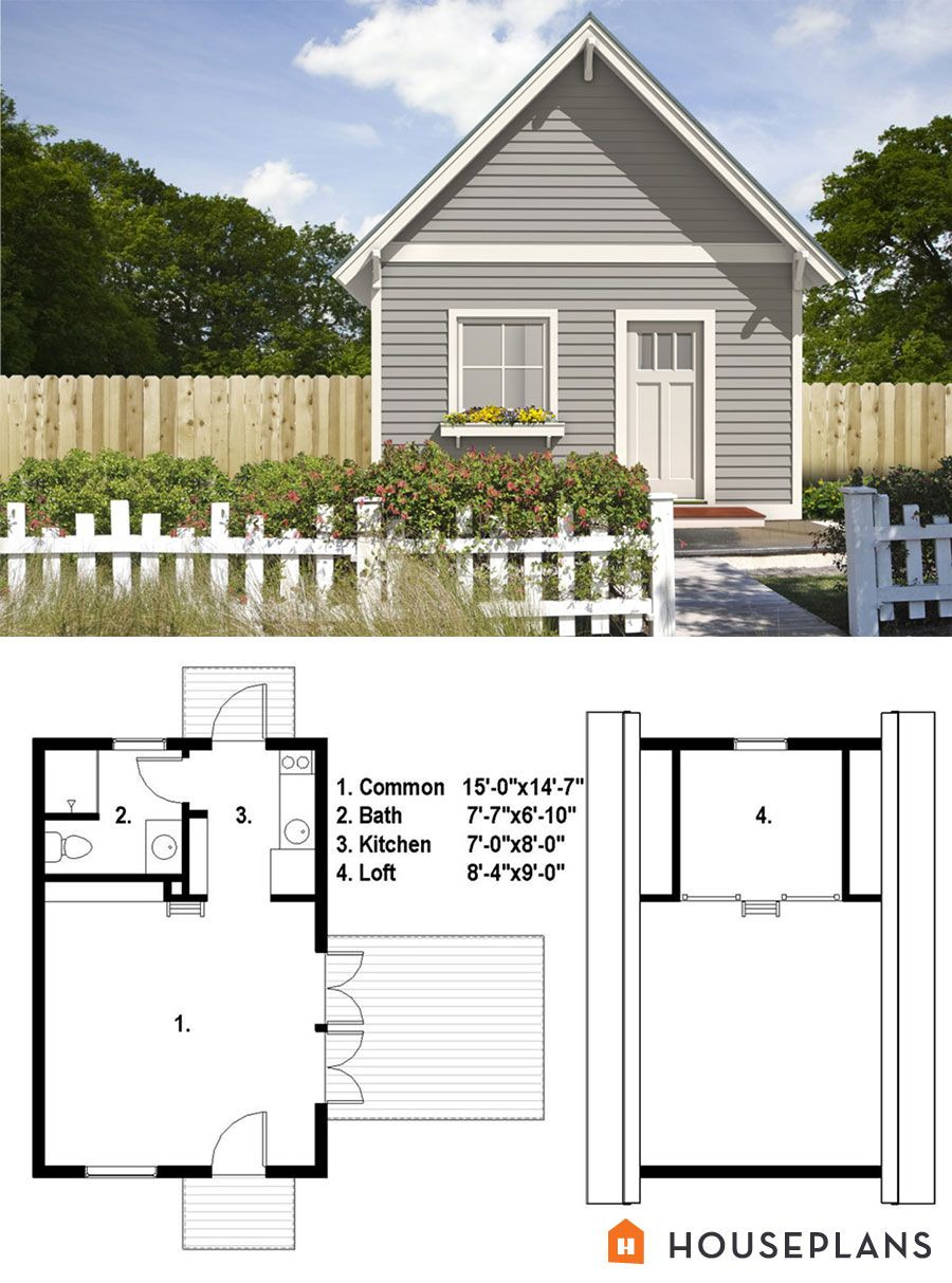 Small Traditional House Plans Best Of Tiny Traditional House Plan From Freegreen 500sft 1bedroom