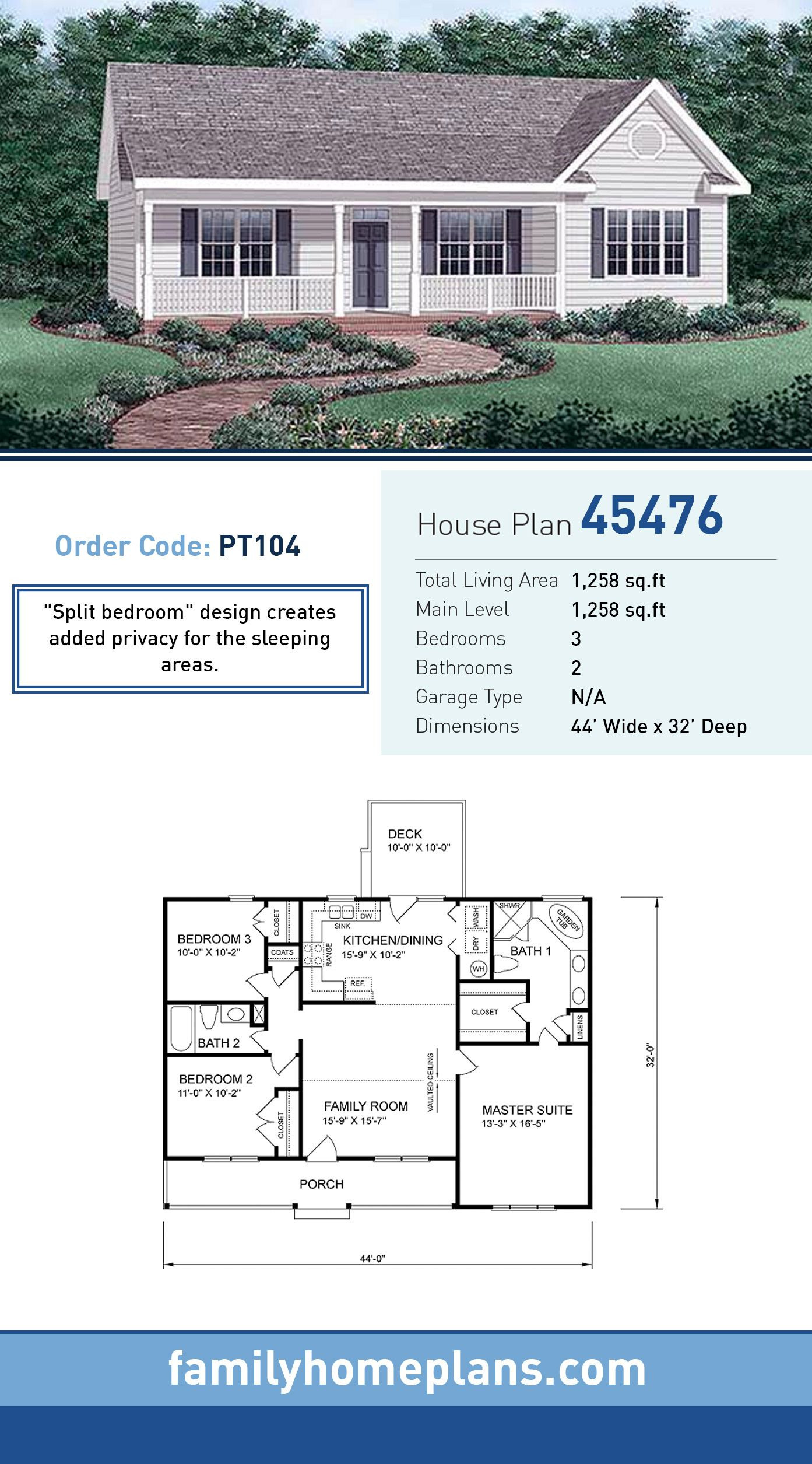 Small Traditional House Plans Elegant Traditional Style House Plan with 3 Bed 2 Bath