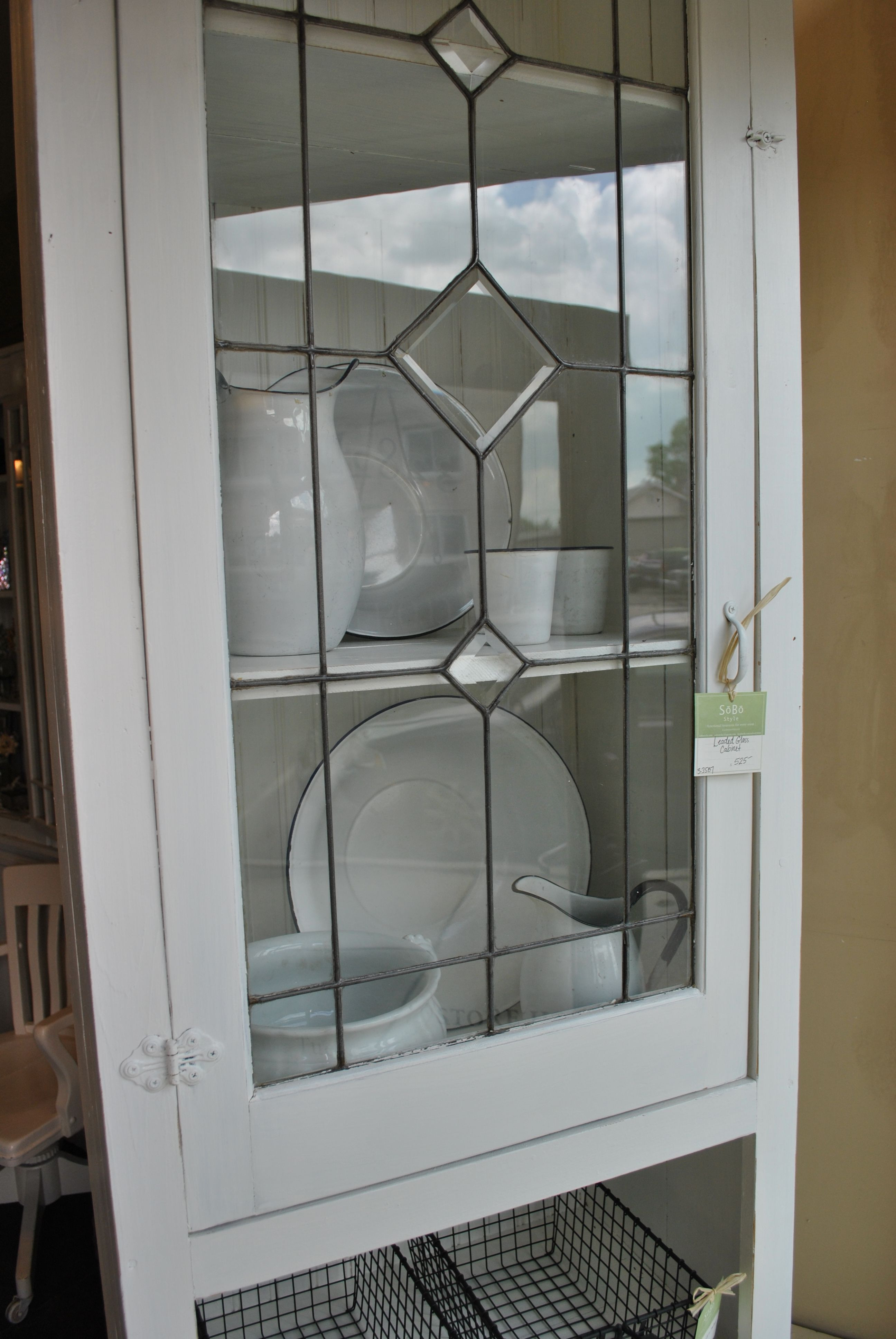 Stained Glass Cabinet Doors Unique White Leaded Glass Cabinet