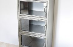 Storage Cabinet With Glass Doors Inspirational Metal Industrial Glass Fronted Storage Cabinet