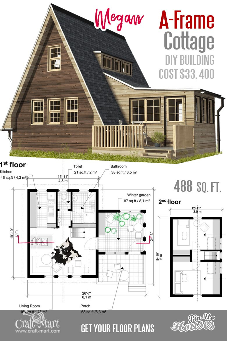 111 small house plans A frame Megan