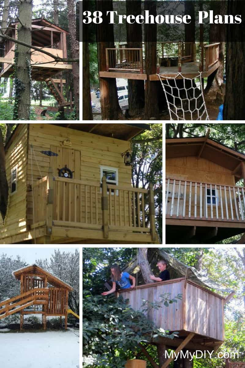 38 DIY Treehouse Plans