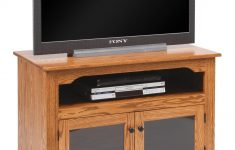 "Tv Cabinet With Glass Doors Best Of Amish 40"" Tv Stand With Glass Doors"