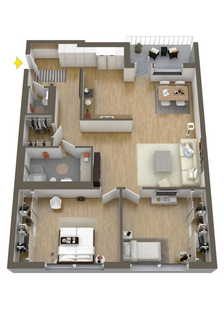 Two Bedroomed House Plans 2020