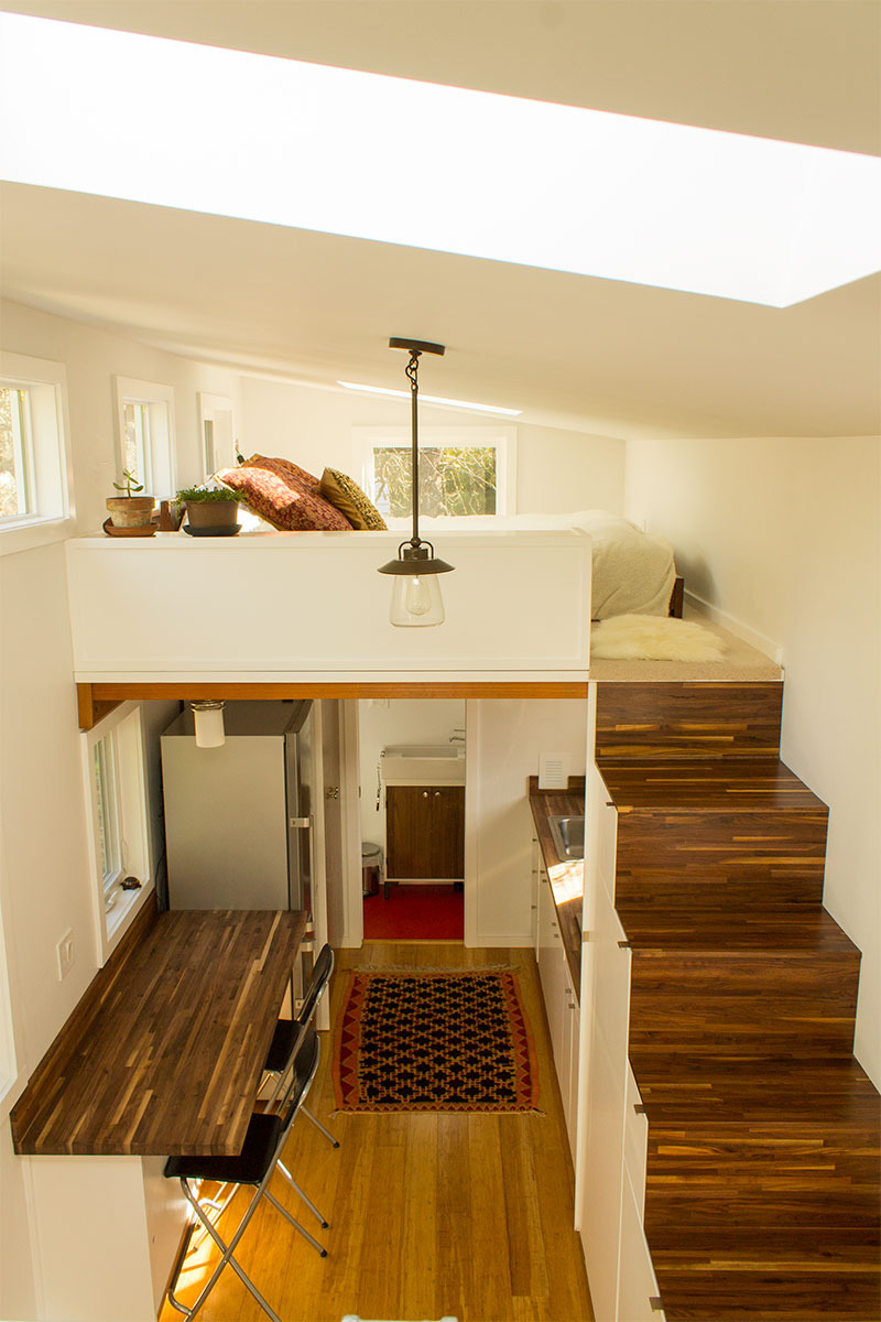 Hikari Box Tiny House Interior From Guest Loft