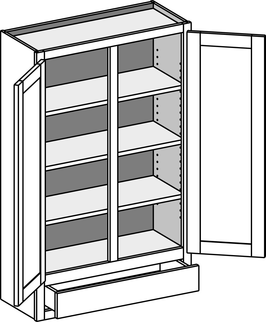 wall one drawer w double doors w1d csw1dcs 2
