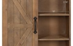 Wall Storage Cabinets With Doors Unique Wood Wall Storage Cabinet With Sliding Barn Door Rustic Brown