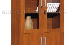 Wood Cabinet With Glass Doors New [hot Item] Two Glass Doors Bookcase Wooden Filing Cabinet Sz Fc006