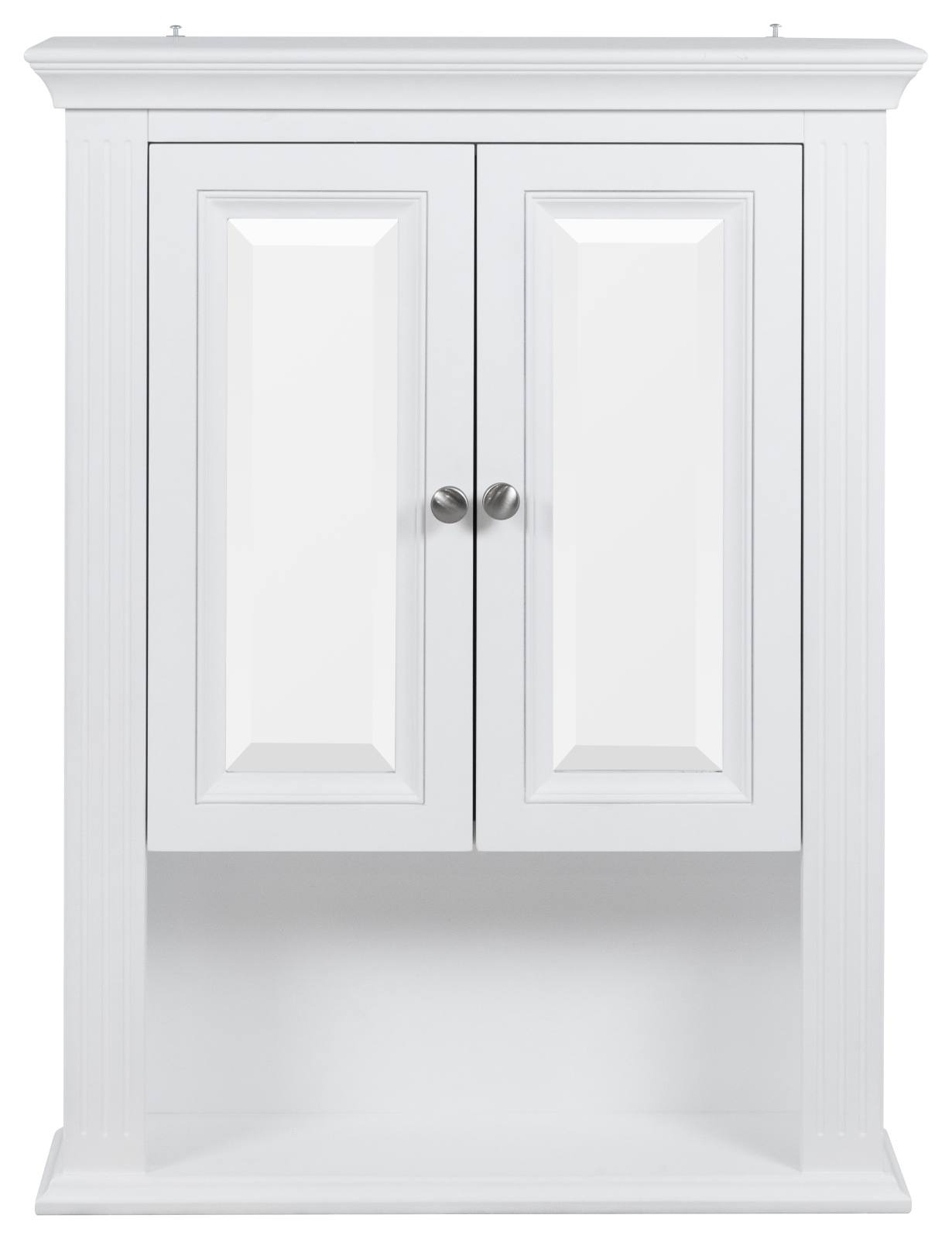 farley fluted 2 door cabinet w shelf white ka wh