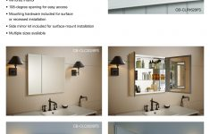 3 Door Medicine Cabinets With Mirrors Elegant 35 In X 26 In Rectangle Surface Recessed Mirrored Medicine Cabinet