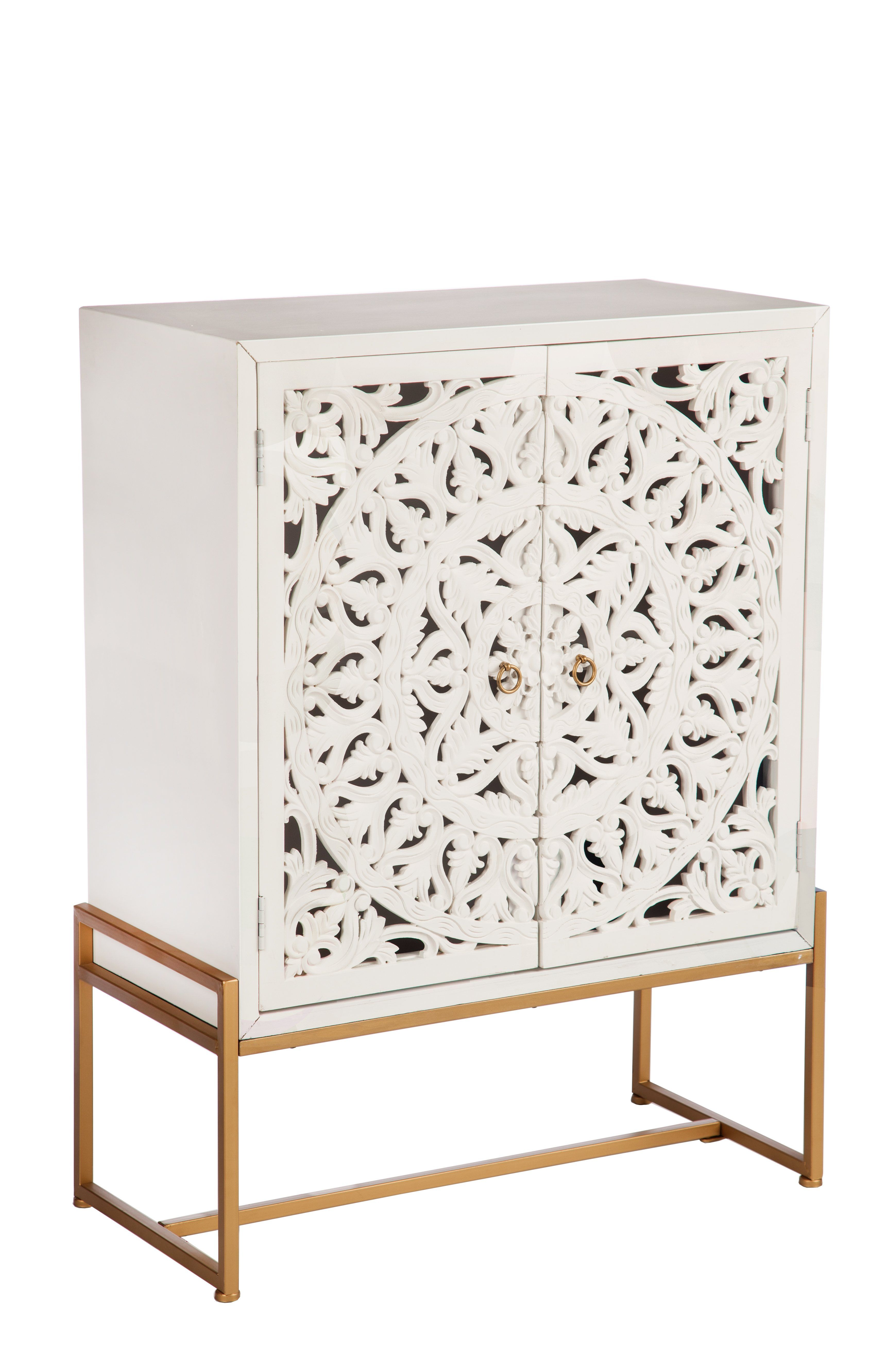 Accent Cabinet with Doors Inspirational M P Patricia Accent Cabinet White and Gold