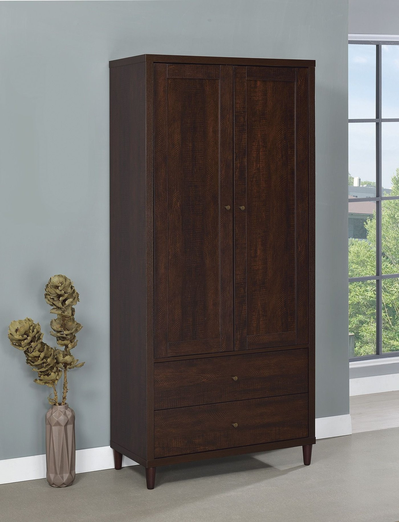 Accent Cabinet with Doors Luxury Coaster Accent Cabinets Brown Tall Accent Cabinet with Doors