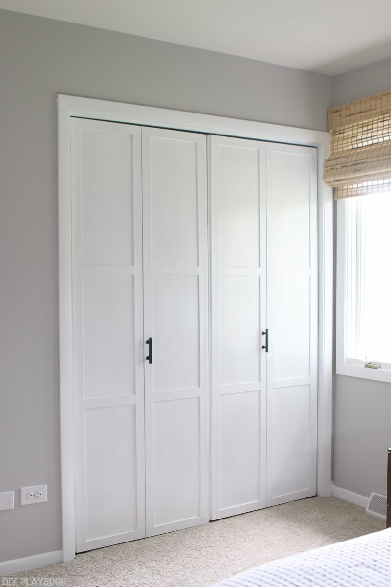 lowes makeover bedroom reveal closet doors