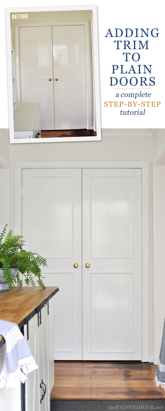 Adding Trim to Flat Cabinet Doors Awesome How to Add Trim to Plain Doors