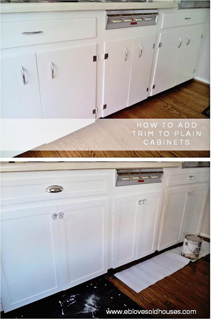 Adding Trim to Flat Cabinet Doors Lovely Kitchen Cabinets Makeover