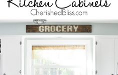 Adding Trim To Flat Cabinet Doors Lovely Kitchen Hack Diy Shaker Style Cabinets Cherished Bliss