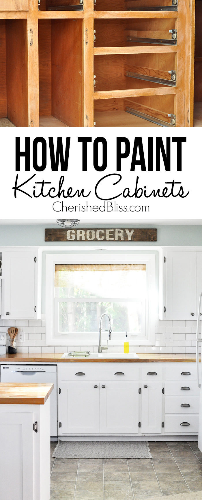 How to Paint Kitchen Cabinets 700x1733