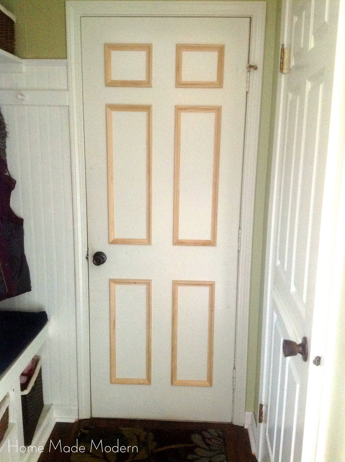 flat to traditional raised panel door Home Made Modern