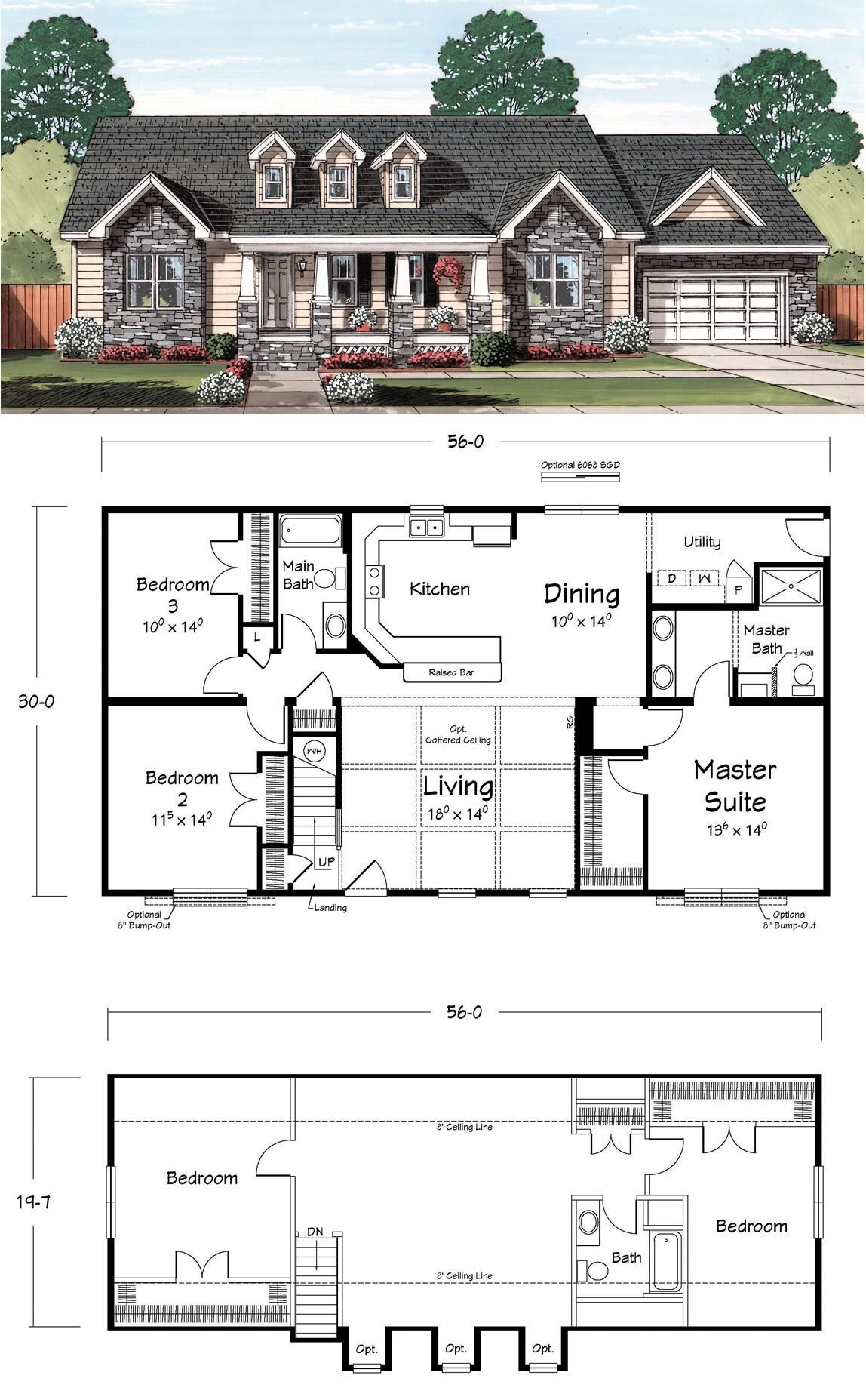 Addition to House Plans Awesome the Smithville Cape From Ritz Craft
