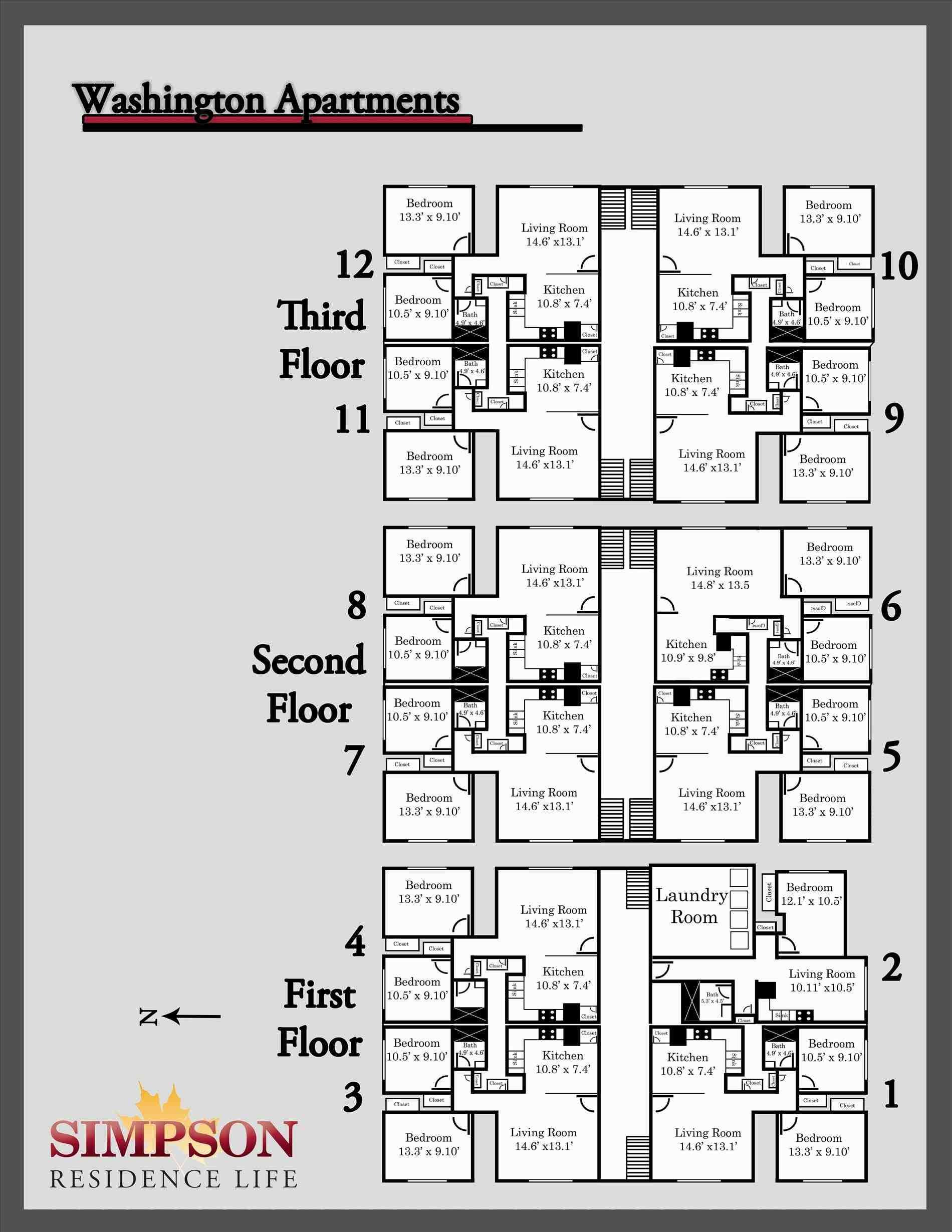 Apartment House Plans Designs Awesome 2 Bedroom Apartment Building Floor Plans