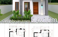 Architecture Simple House Designs New Small Home Design Plan 5 4x10m With 3 Bedroom
