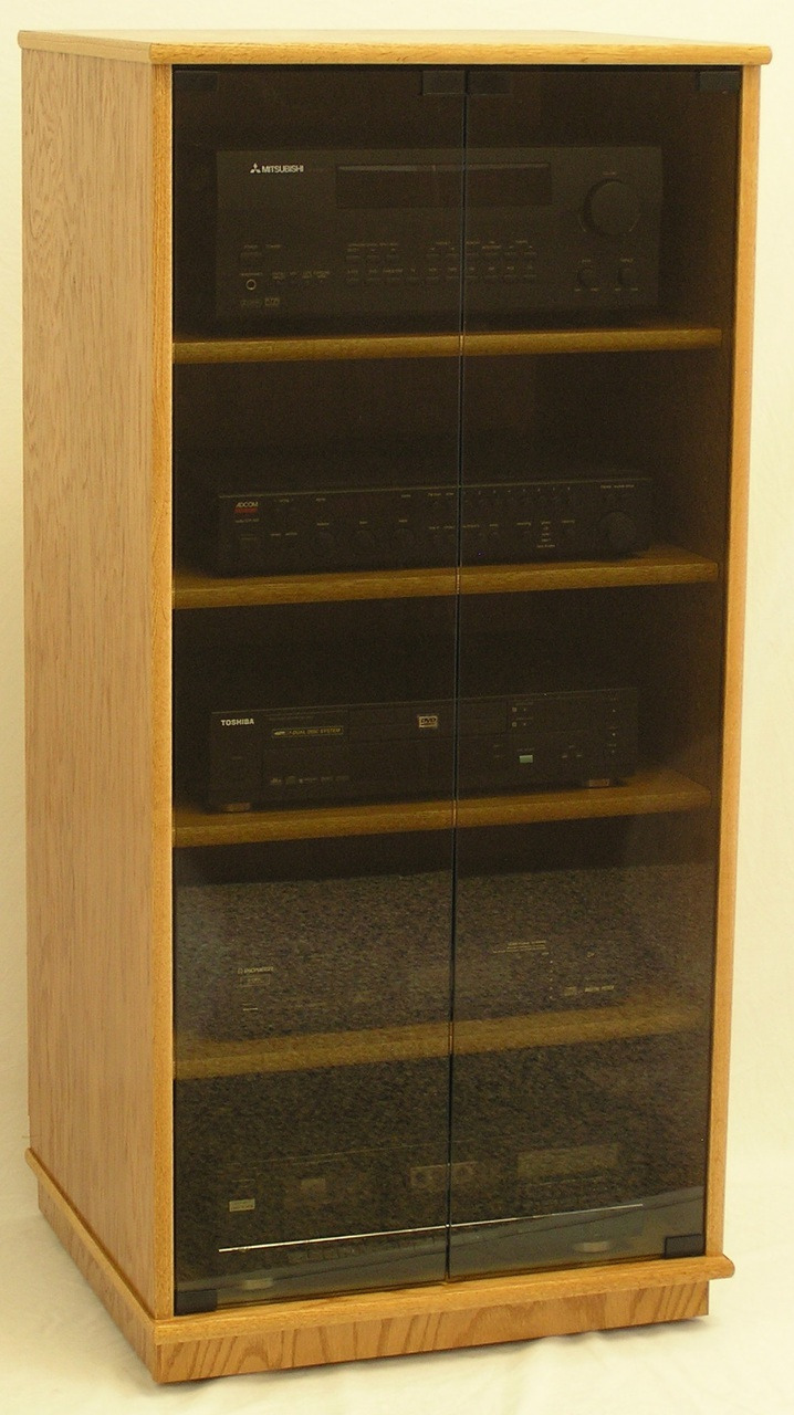 """Audio Cabinet with Glass Doors Unique 50"""" Stereo Cabinet with Glass Doors"""