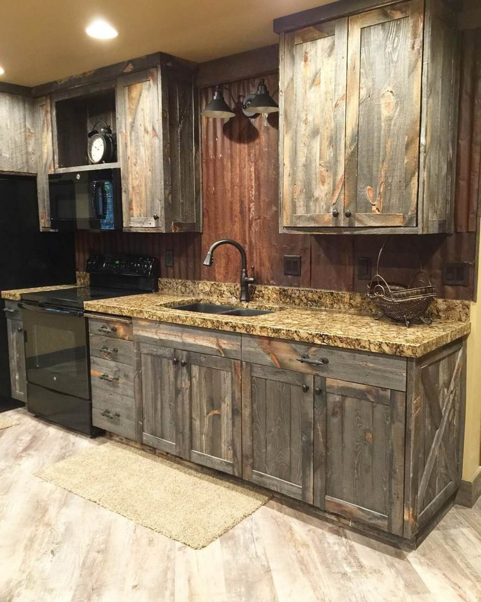fascinating barn wood look kitchen cabinets reclaimed cabinet doors style old red for mycoffeepot 970x1213