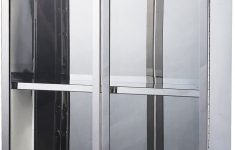 """Bathroom Cabinet With Glass Doors New Hom Vertical 24"""" Stainless Steel Bathroom Wall Mounted Glass Medicine Cabinet"""
