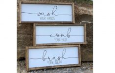 Bathroom Signs Decor Beautiful Signs With Quotes Farmhouse Decor
