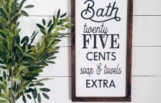 Bathroom Signs Decor Inspirational Hot Bath 25 Cents Bathroom Sign Bathroom Decor Rustic Decor Farmhouse Bathroom Rustic Bathroom Signs Farmhouse Decor Vintage Signs