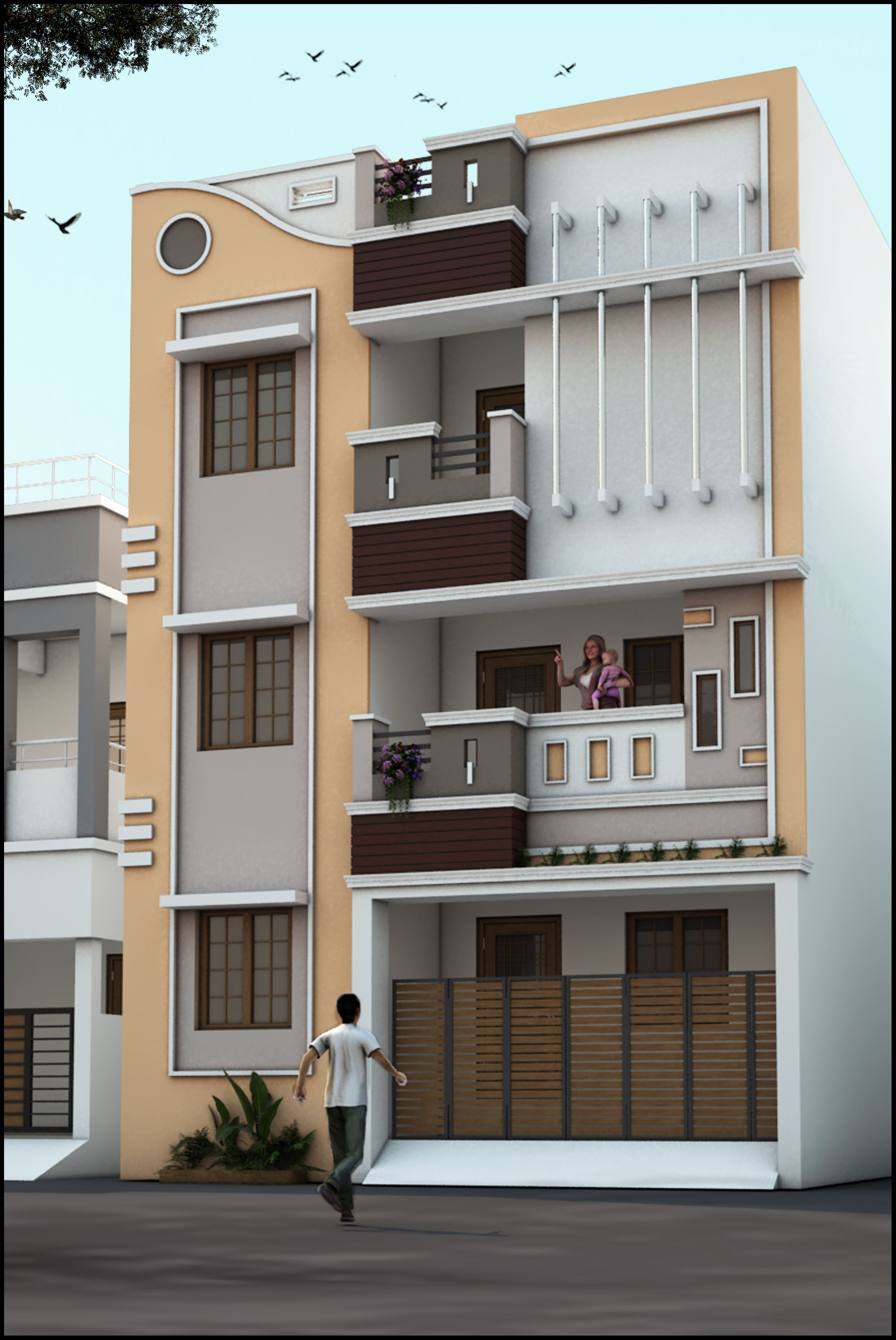 Beautiful Building Elevation In Front Beautiful Pin by Sri Sai Constructions On House Modern