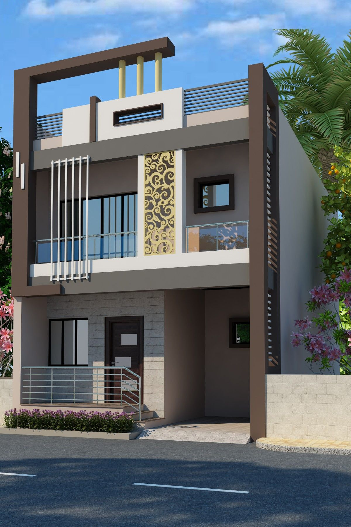 Beautiful Home Front Elevation Awesome New Design