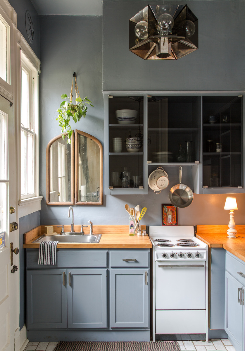 01 serenity with modern blues small kitchen idea homebnc