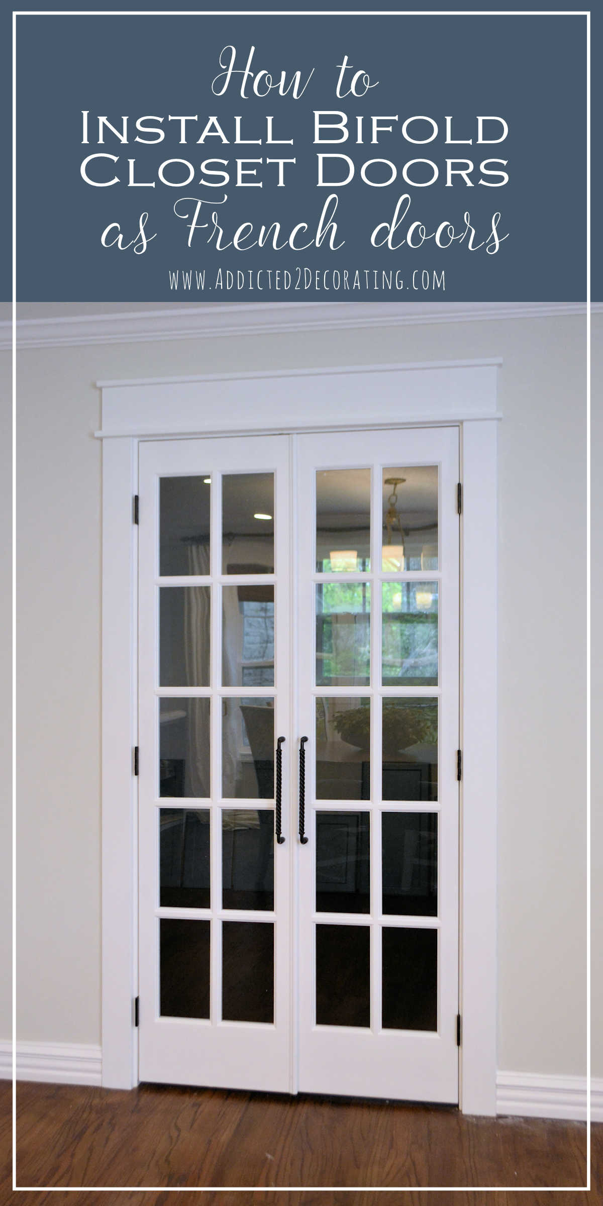 how to install bifold closet doors as french doors