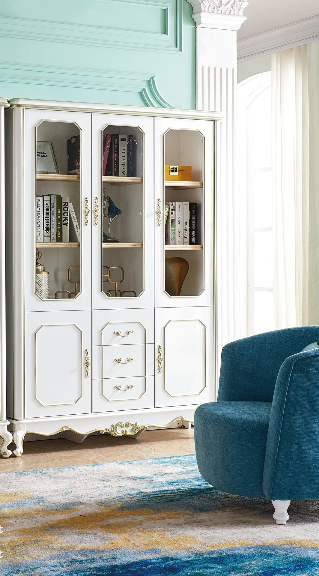 Book Cabinet with Doors New Bookcase with 3 Doors Cabinet