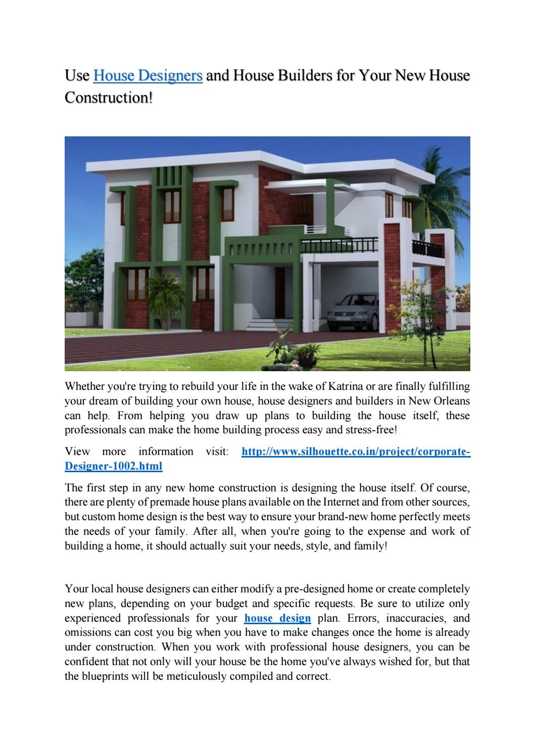 Brand New House Plans Inspirational Use House Designers and House Builders for Your New House