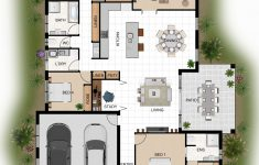 Building Plans For House Beautiful 2d Colour Floor Plan For A Home Building Pany Innisfail