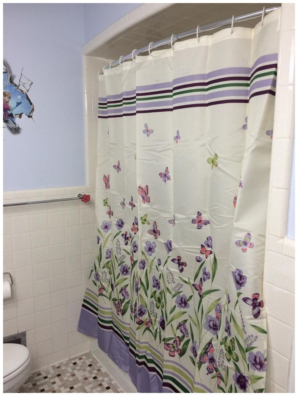 Butterfly Bathroom Decor Awesome butterfly Garden Pastel Shower Curtain Spring Purple Botanical Floral Bath Decor