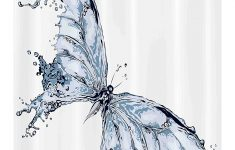 """Butterfly Bathroom Decor Fresh Ambesonne Butterflies Stall Shower Curtain Abstract Butterfly With Water Splash Aquatic Effect Fabric Bathroom Decor Set With Hooks 54"""" X 78"""""""