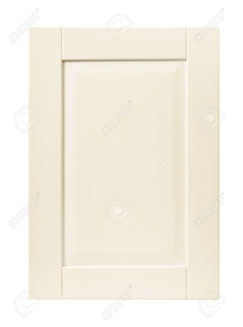 photo front kitchen wooden frame cabinet door isolated on white